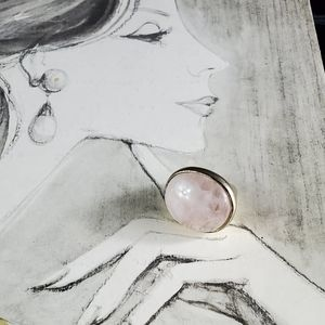 Pink Rose Quartz Ring